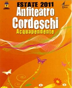 Locandina dell'Anfiteatro Cordeschi - Teatro Boni di Acquapendente