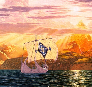 """The Shores of Valinor"" - disegno di Ted Nasmith"