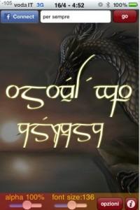 App per iPhone per scrivere in elfico