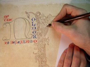 Particolare pagina miniata della Edel Silmarillion