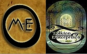 Due loghi Middle-earth Enterprises e Tolkien Enterprises
