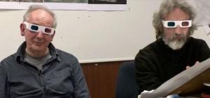 Film Lo Hobbit: Alan Lee e John Howe con occhiali 3D