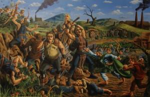"""illustrazione: """"Scouring of the Shire"""""""