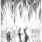 112_Goblins and Wolves dancing around burning trees