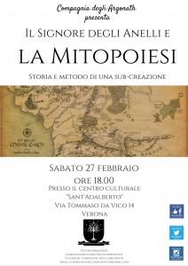 Verona: Locandina Argonath del 2016-02-27