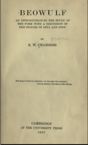 Chambers - Beowulf an introduction to the study