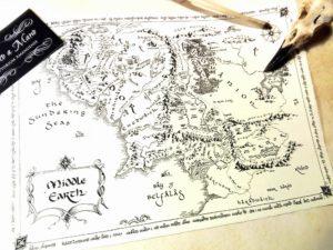 Mappa Terra di Mezzo - Scritto a Mano 2