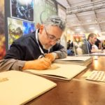 Roberto Arduini - firma calendari Lucca Comics and Games 2017