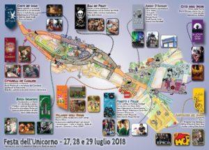 Mappa Festa dell'Unicorno 2018