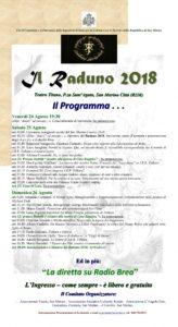 Programma Il Raduno 2018