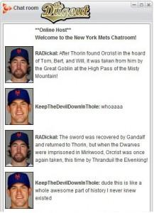 Il forum sul sito della squadra di baseball dei Mets