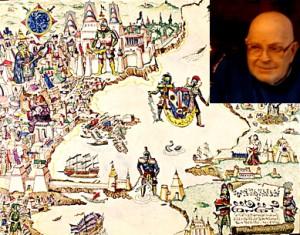 Barker e la mappa di Empire of the Petal Throne