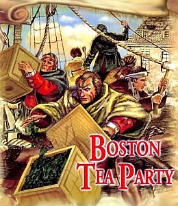 La ribellione del Tea Party a  Boston nel 1773