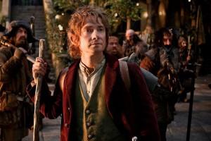 Film: foto Martin Freeman nei panni di Bilbo Baggins da giovane