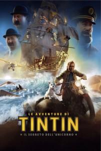"""Locandina film """"Le Avventure di Tintin: Il Segreto dell'Unicorno"""""""