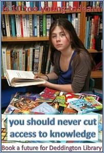 Campagna di protesta contro la chiusura della biblioteca di Deddington