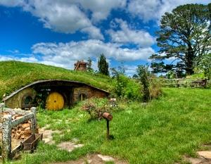 Case Hobbit - 06: set di Hobbiton a Matamata, nell'Isola del Nord, in Nuova Zelanda