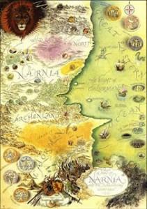 Mappa di Narnia di Pauline Baynes