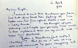 Lettera inedita di J.R.R. Tolkien