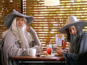 Spot tv di Dennys: 2 Gandalf