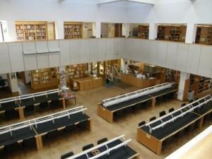 Facoltà di inglese a Oxford - sala lettura