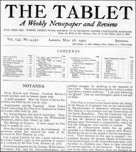 Riviste: The Tablet