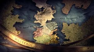 Mappa del mondo conosciuto di George Martin