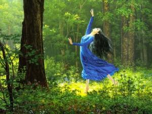 Luthien danza nei boschi