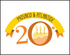 Logo 20 anni Mosaico e Atlantide