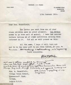 Lettera di Tolkien a Mountfield