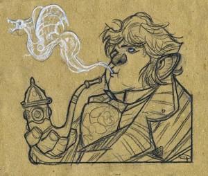 Denis Medri: Bilbo con la Pipa