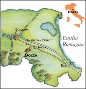 Cartina di Dozza (Bologna)