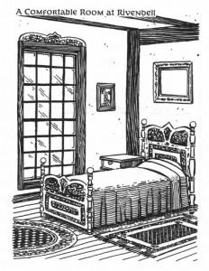 Rivendell: camera da letto
