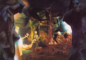 Bilbo nella sala di Elrond