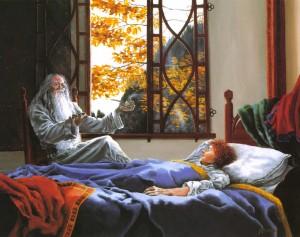 Frodo si sveglia a Rivendell
