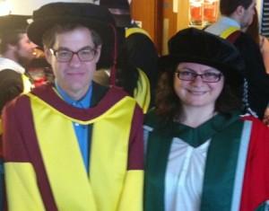 Andrew Higgins e Dimitra Fimi - dottorato a luglio 2015