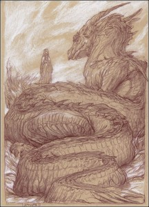 "Donato Giancola: ""Nienor and Glaurung"""