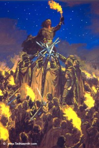 "Ted Nasmith: ""The Oath of Feanor"" - Giuramento di Fëanor"