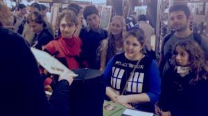 Lucca Comics: pubblico allo stand
