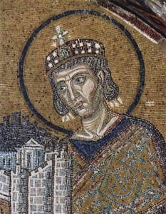 Mosaico bizantino: cesaropapismo (circa 1000)