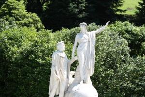 Statua di Dante e Beatrice
