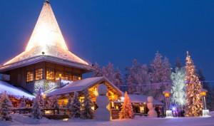 Villaggio di Babbo Natale-Rovaniemi, Lapponia in Finlandia