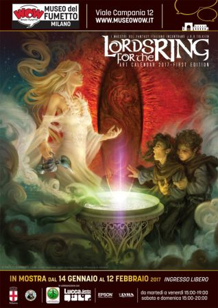 Locandina mostra WOW Lords for the Ring