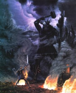 Fingolfin e Morgoth - Ted Nasmith