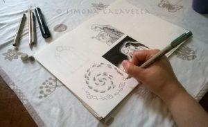 Simona Calavetta sketching