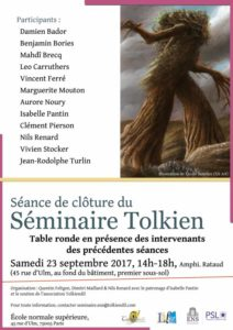 Seminaire Tolkien - table ronde 2017