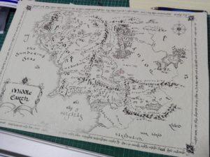 Mappa Terra di Mezzo - Scritto a Mano 3