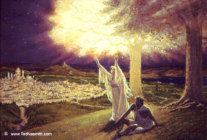 Varda and Manwe in Valinor - Ted Nasmith