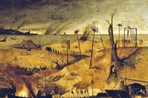 Particolare del Trionfo della Morte di Pieter Bruegel