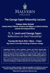 The George Sayer Fellowship Lecture - C. S. Lewis and George Sayer, Reflection fo their Friendship